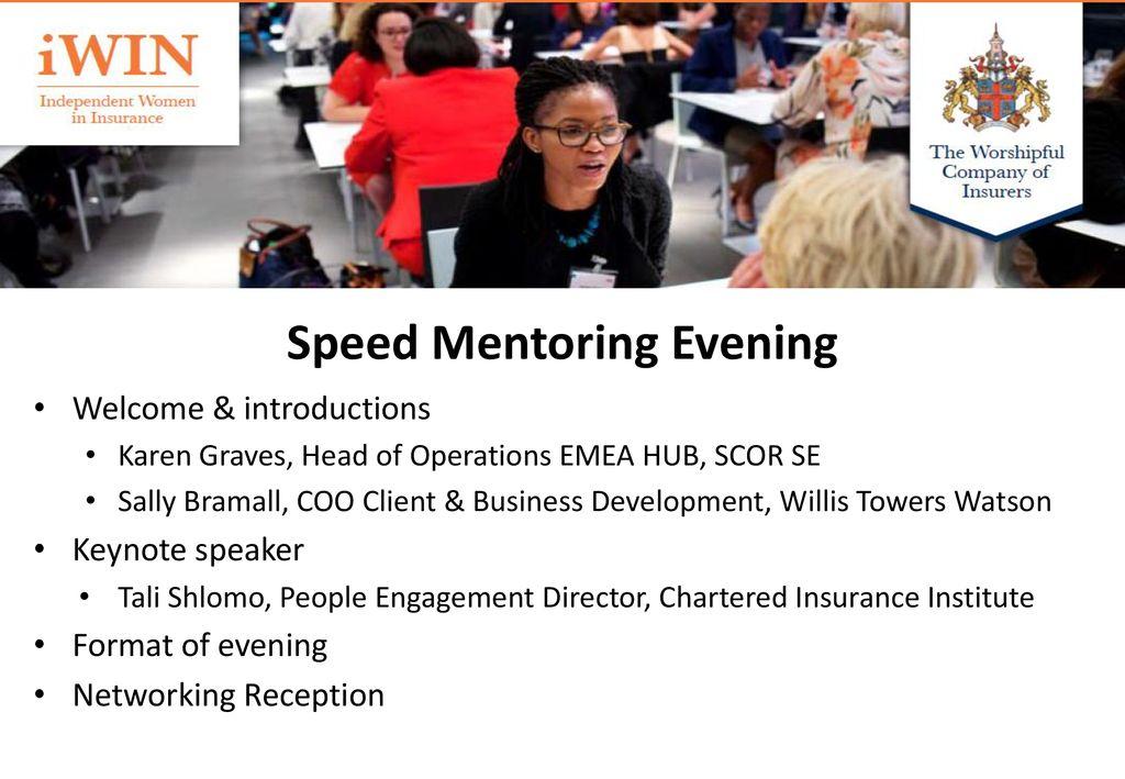 speed mentoring format