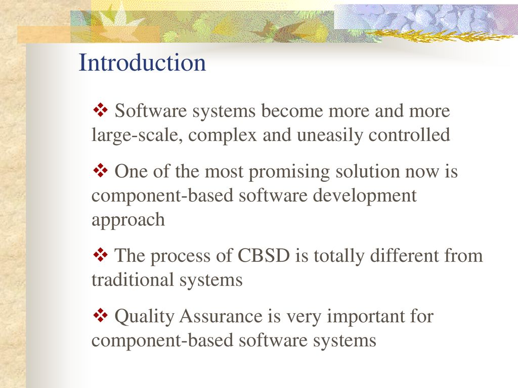 Component-Based Software Engineering: Technologies
