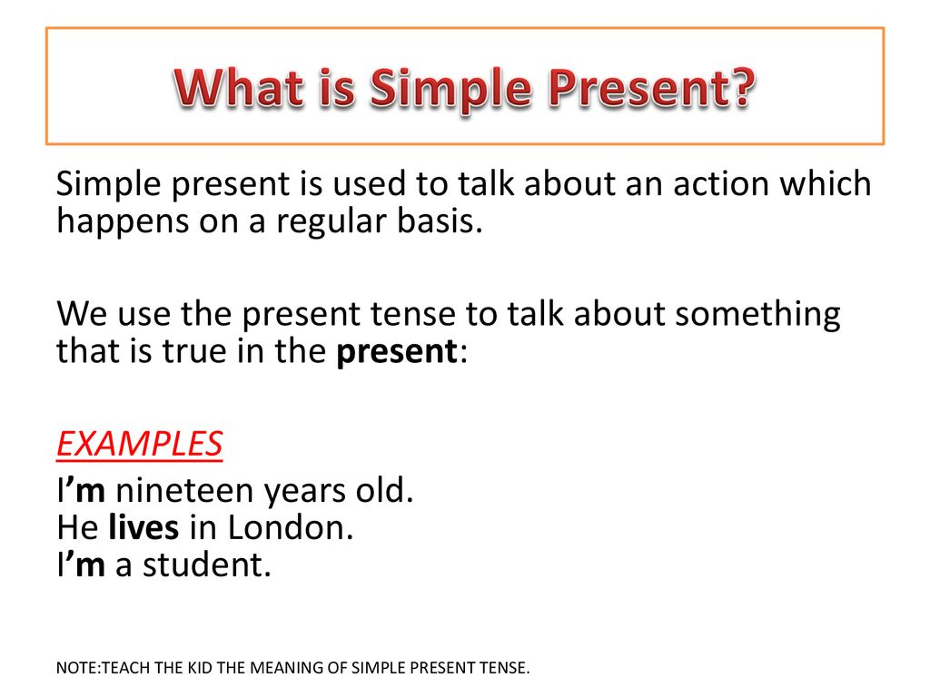 Present Simple Tense Examples