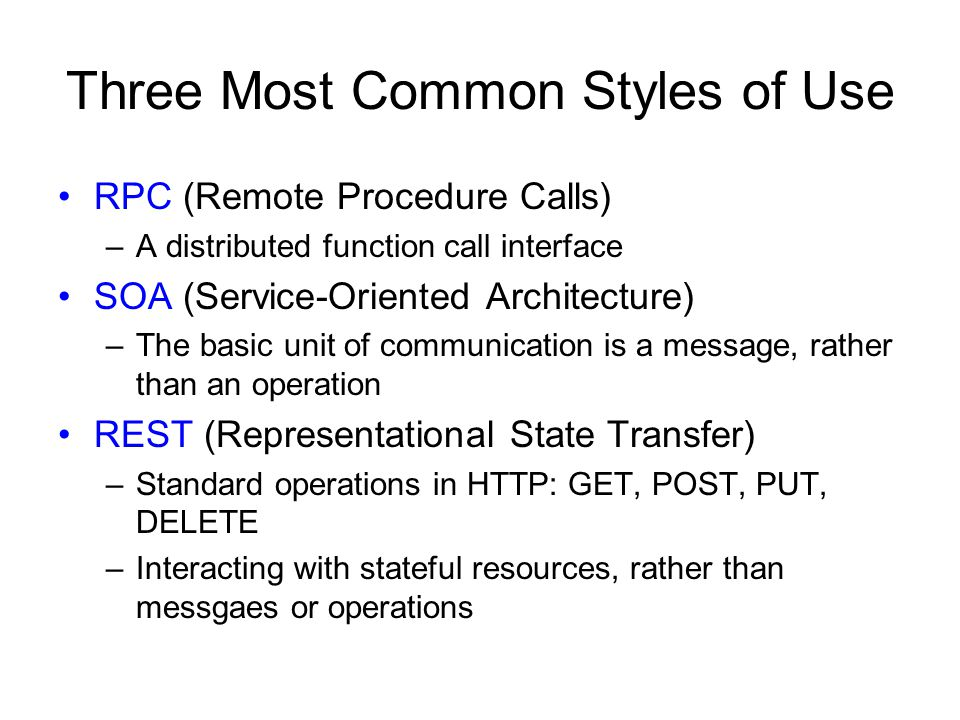 Three Most Common Styles of Use