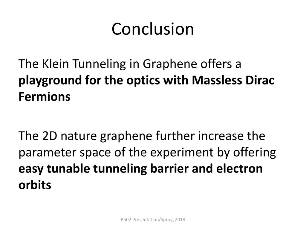 Klein Tunneling and Dirac Physics in Graphene - ppt download