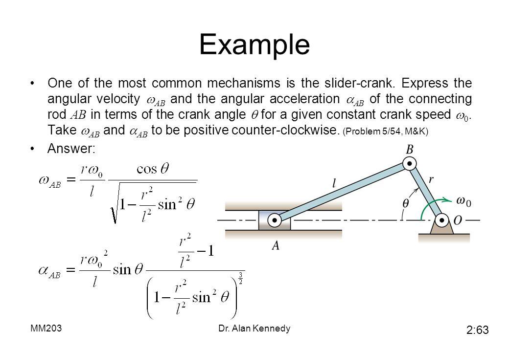 MM203 Mechanics of Machines: Part 2 - ppt video online download