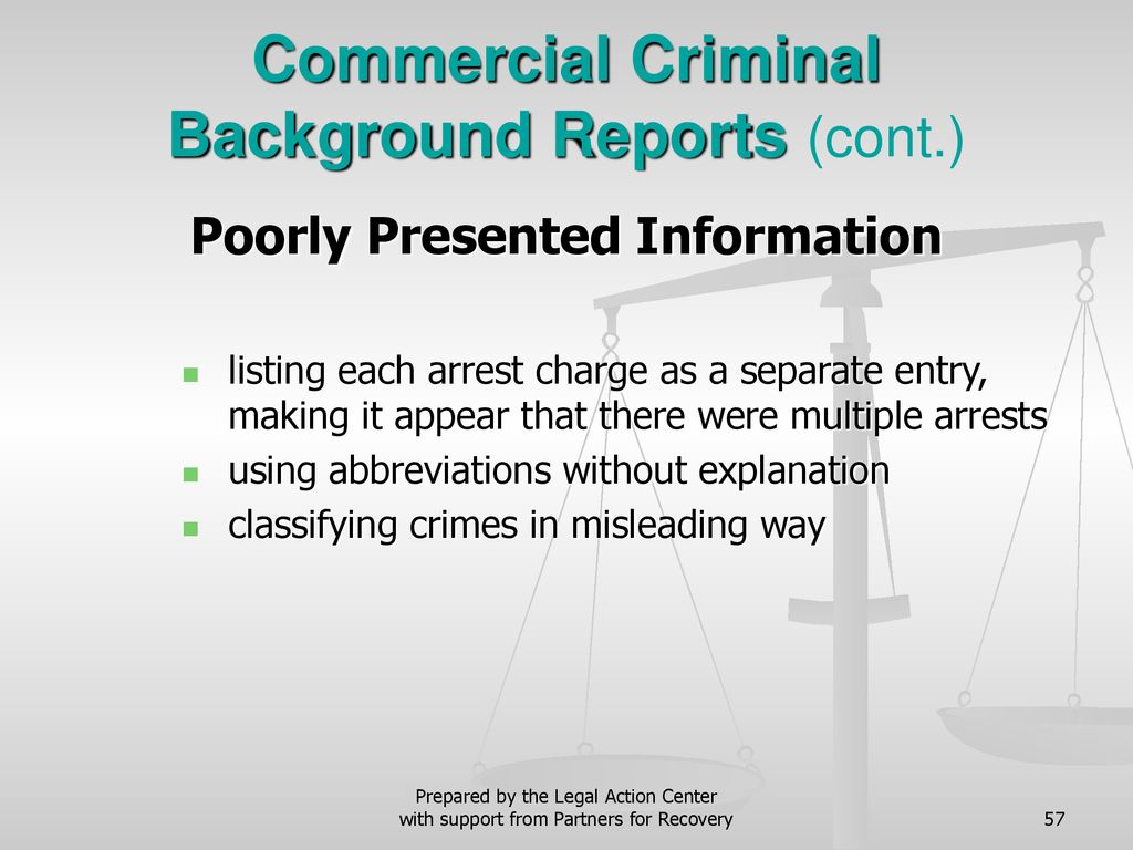 Legal Rights of People with Criminal Conviction Histories - ppt download