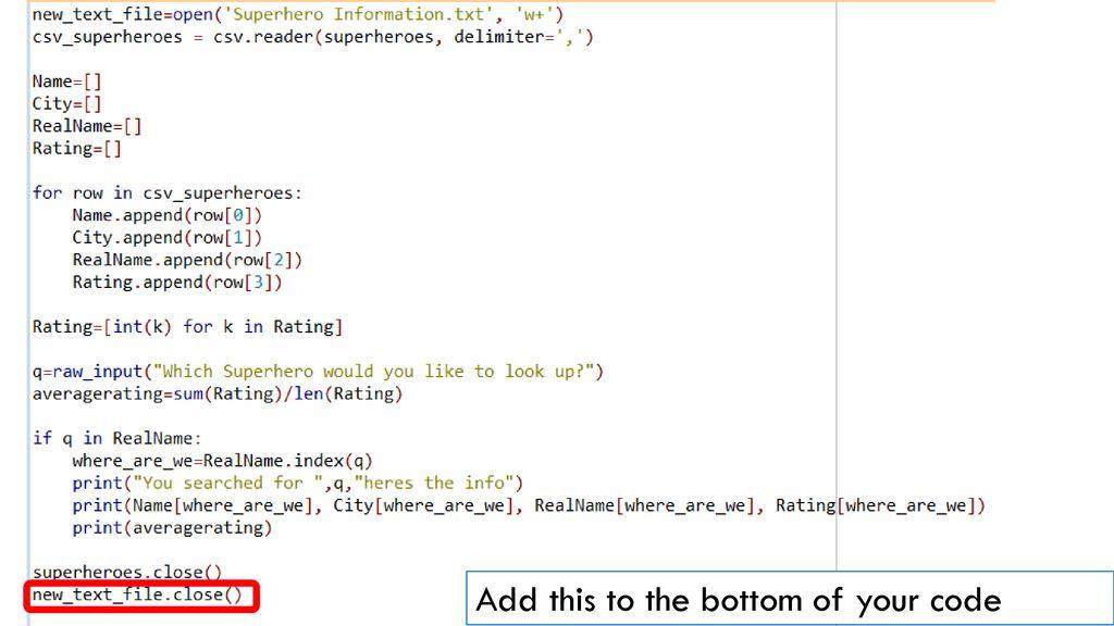 Python I/O  - ppt download