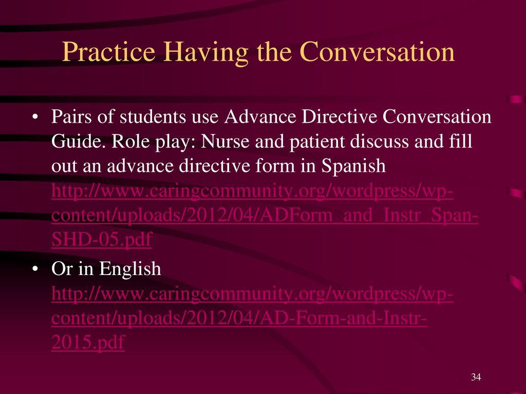 Practice Having the Conversation