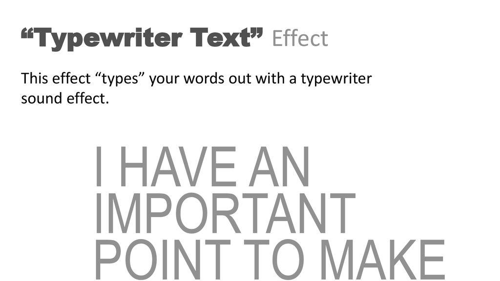 Typewriter Sound Effect