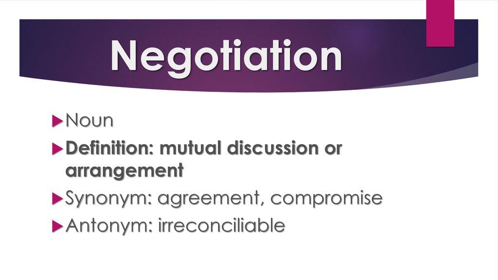 11 Negotiation