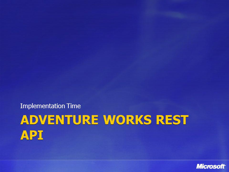 adventure works REST API