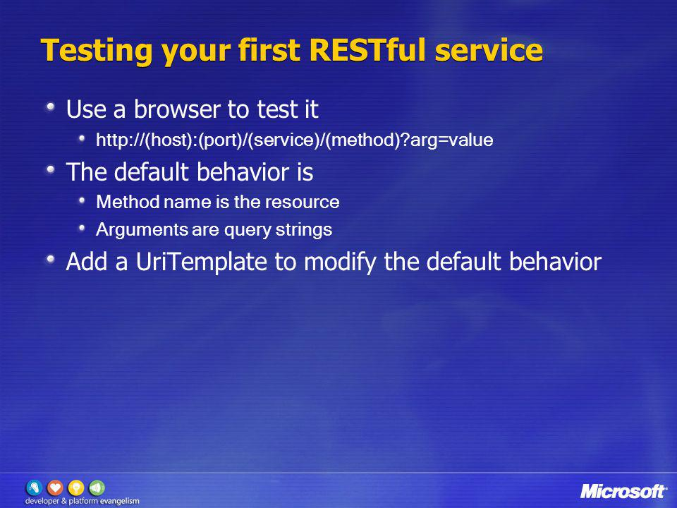 Testing your first RESTful service
