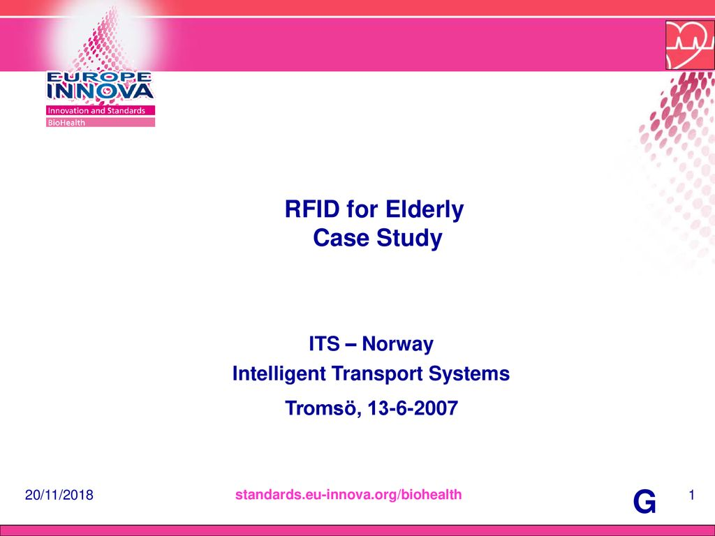 RFID for Elderly Case Study - ppt download