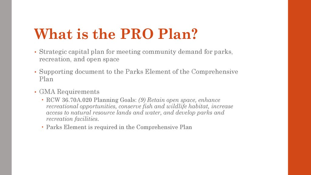 Update on Parks, Recreation, and Open Space Plan - ppt download