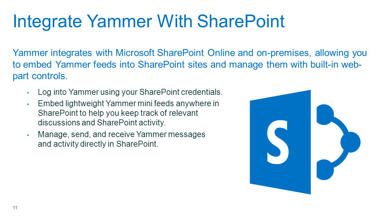 Integrate Yammer With SharePoint