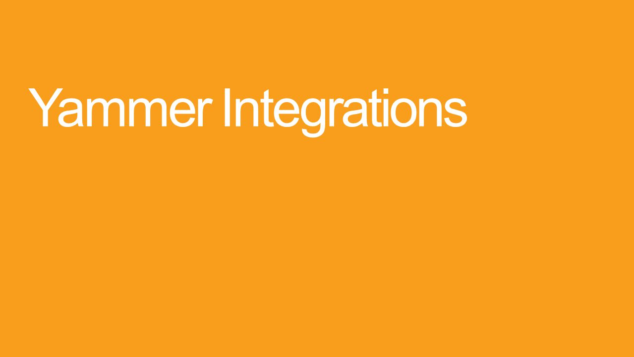 Yammer Integrations
