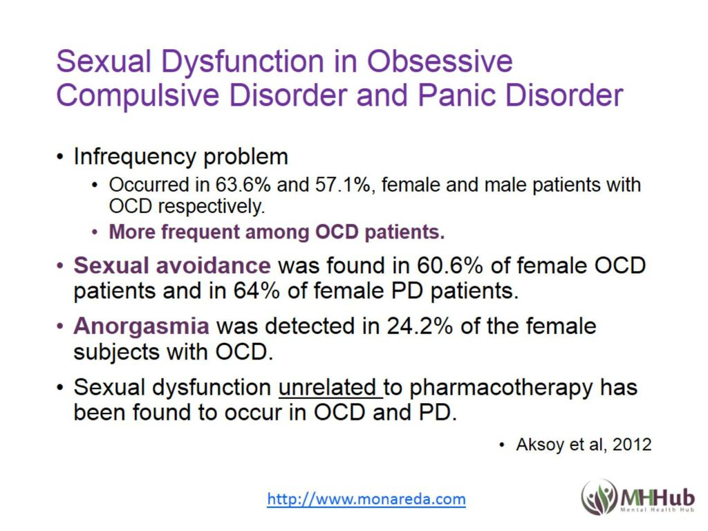Sexual and aggressive obsessions in ocd
