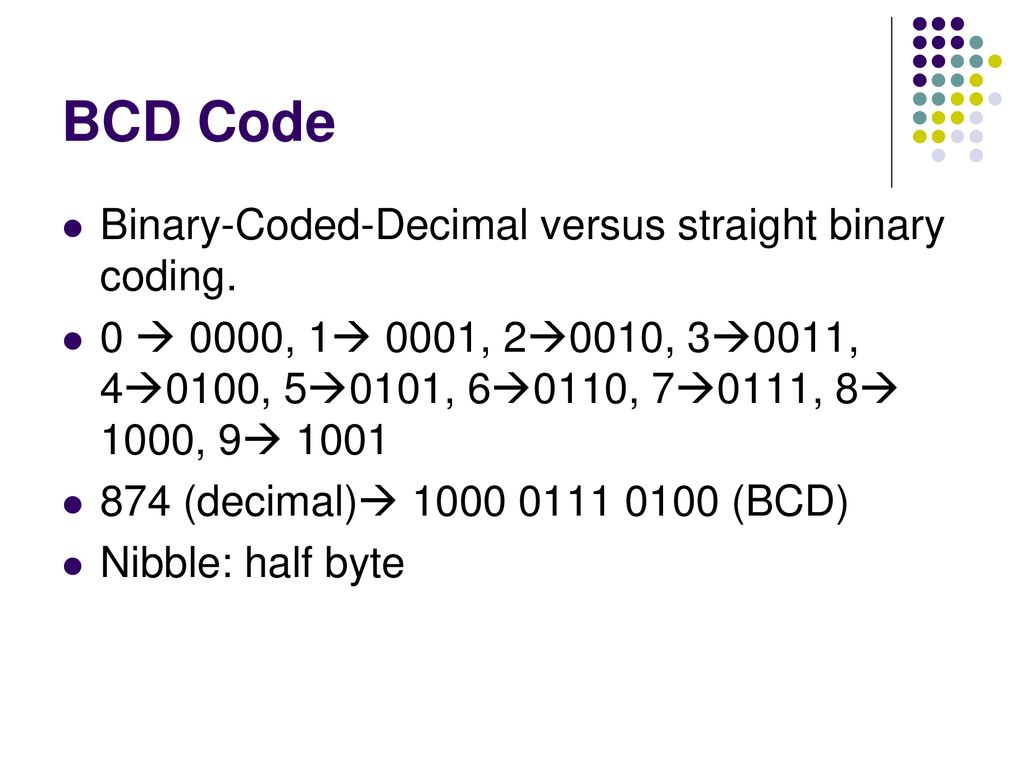 Digital Systems Number And Codes Ppt Download Bcd To Binary Coded Decimal Converter Data 6 Code