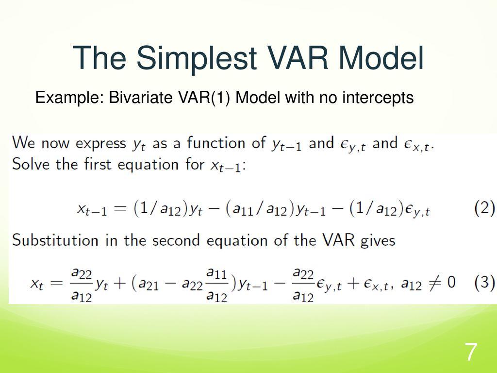 Var model example