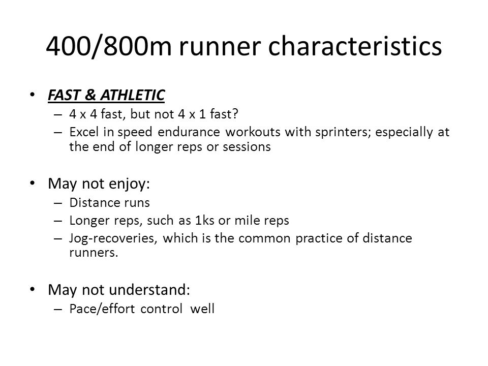 Keys to Developing the Combo 400/800m Runner - ppt video