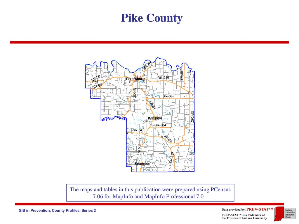 Pike County Indiana Map.Pike County Indiana The Indiana Prevention Resource Center Ppt
