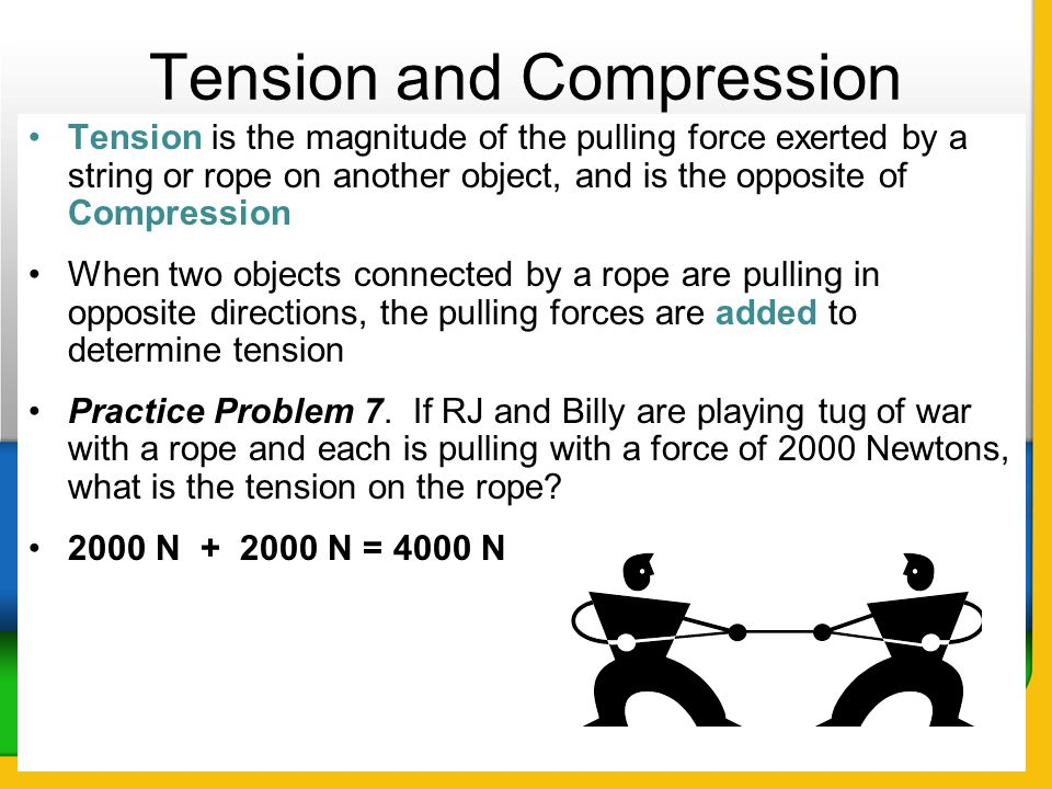Tension and Compression