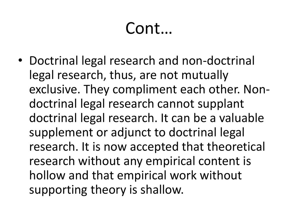 non doctrinal research