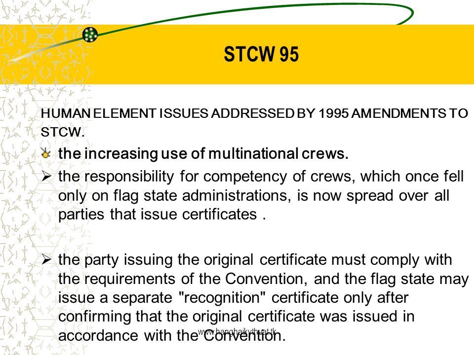 Stcw 78 The International Convention On Standards Of Training