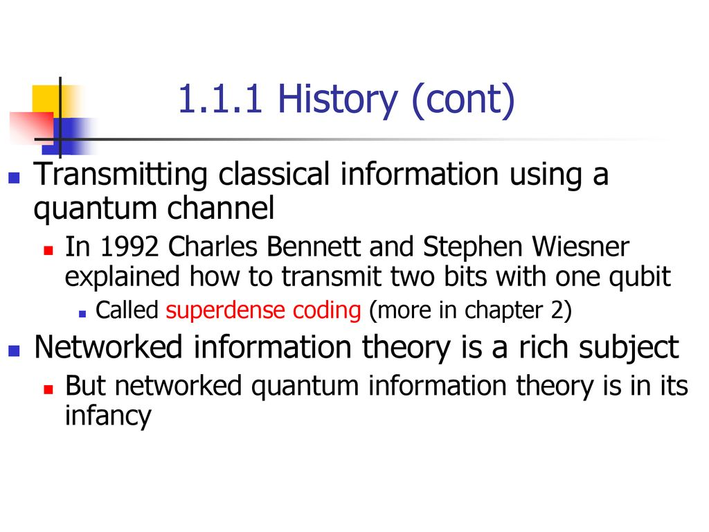 Quantum Computation and Information Chap 1 Intro and
