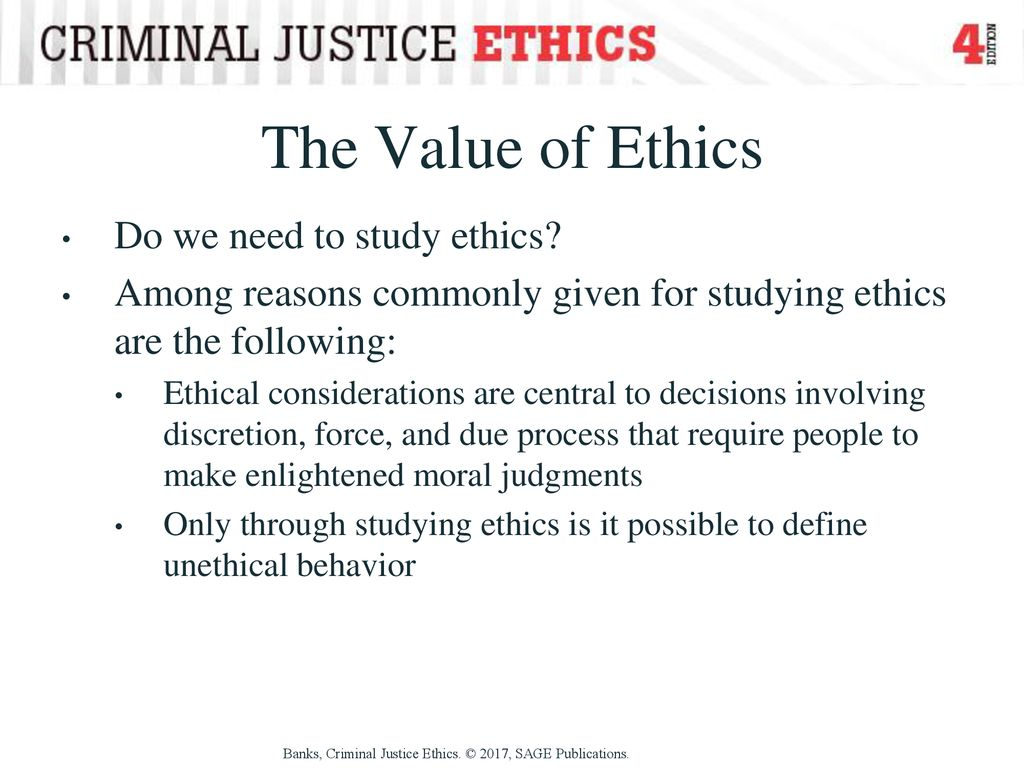 the importance of ethics in criminal justice