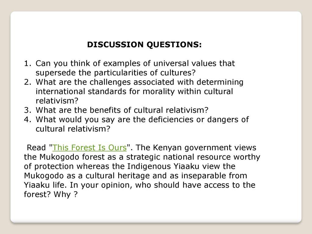 benefits of cultural relativism