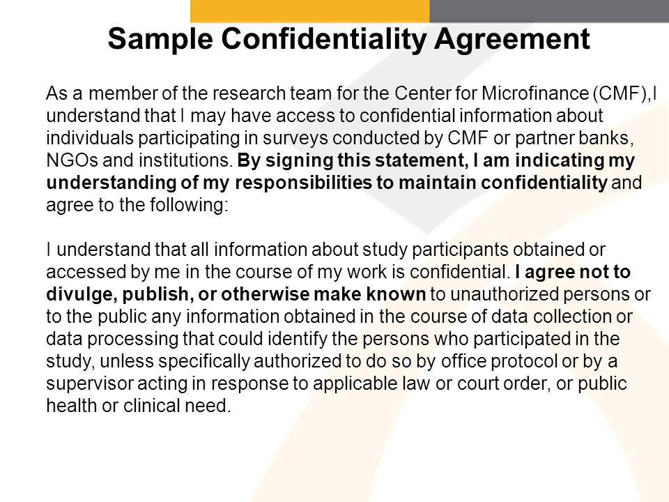 Outstanding Confidentiality Statement Pattern - Administrative ...