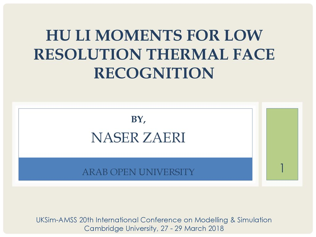 Hu Li Moments for Low Resolution Thermal Face Recognition