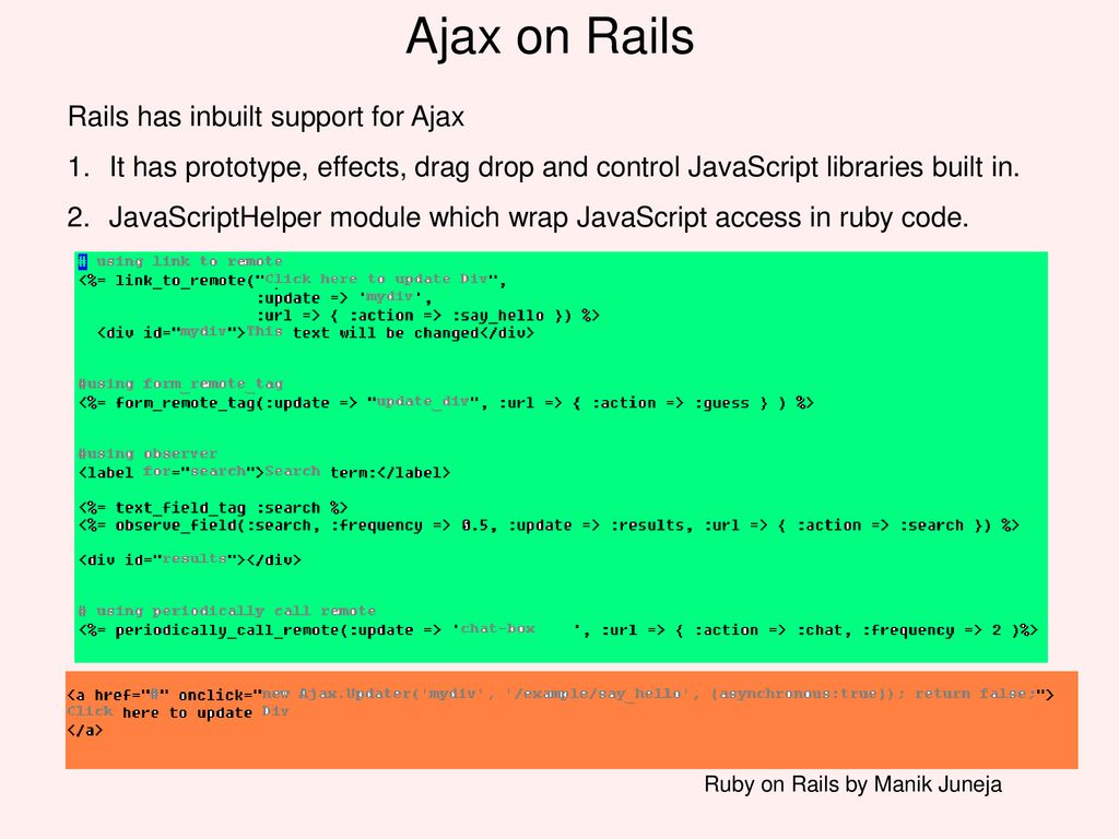 Ruby on Rails by Manik Juneja - ppt download