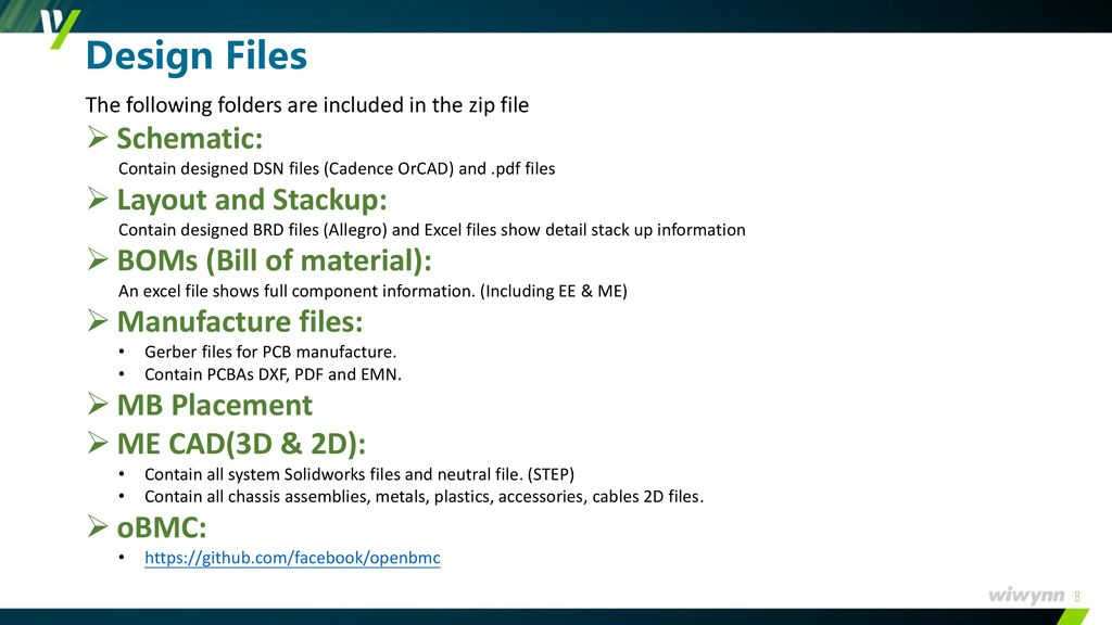 Wiwynn OCP Design Contribution Guideline - ppt download