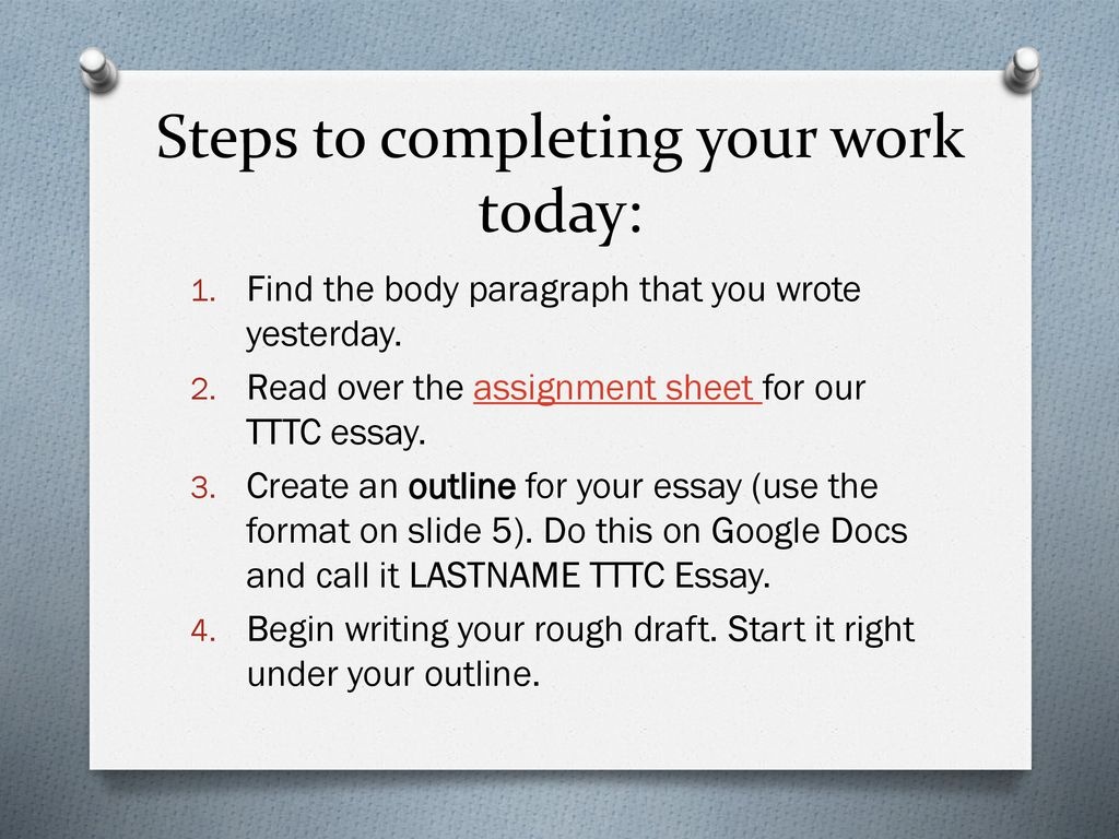 how to start a rough draft