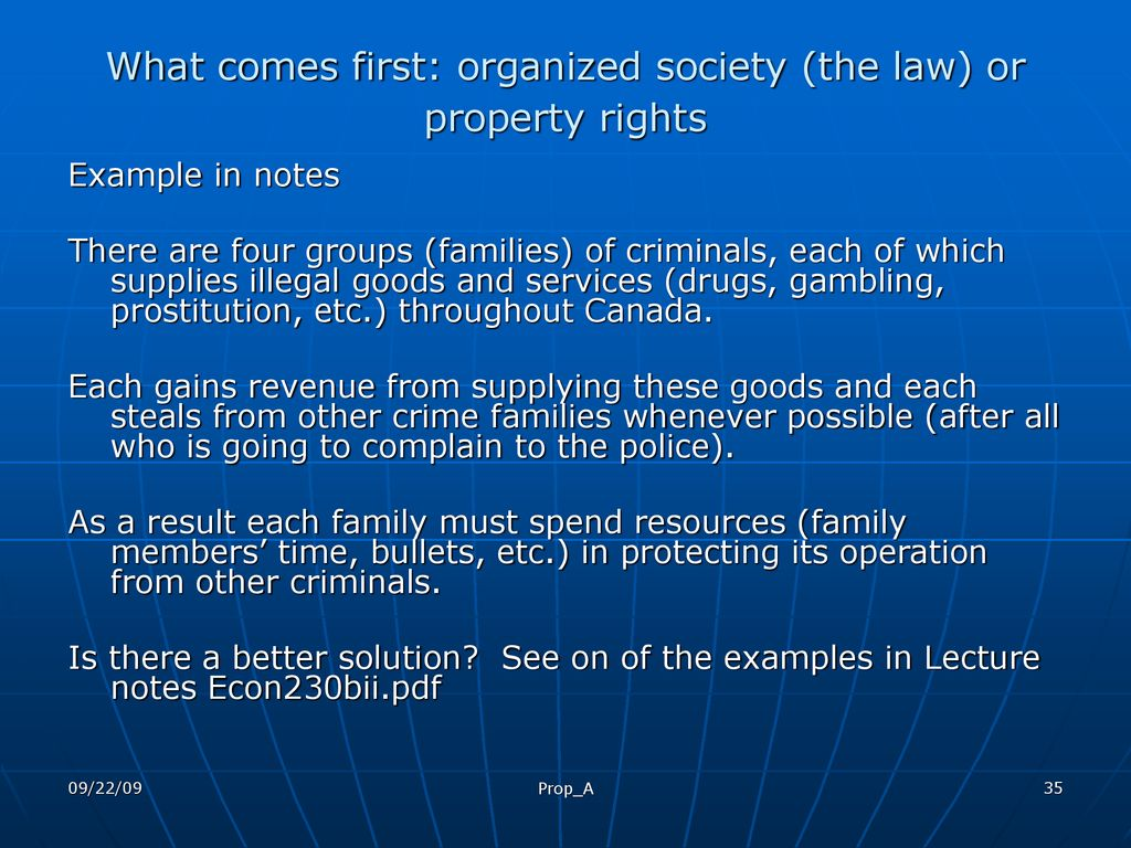 Property Law Economic Theory of Property - ppt download