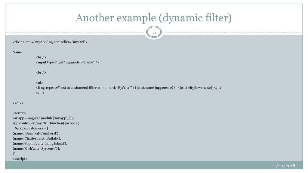 Angular (JS): A Framework for Dynamic Web Pages - ppt download