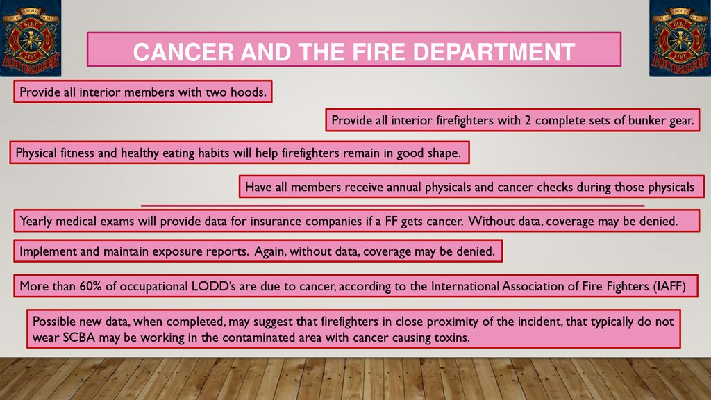 Cancer and the Fire Department - ppt download