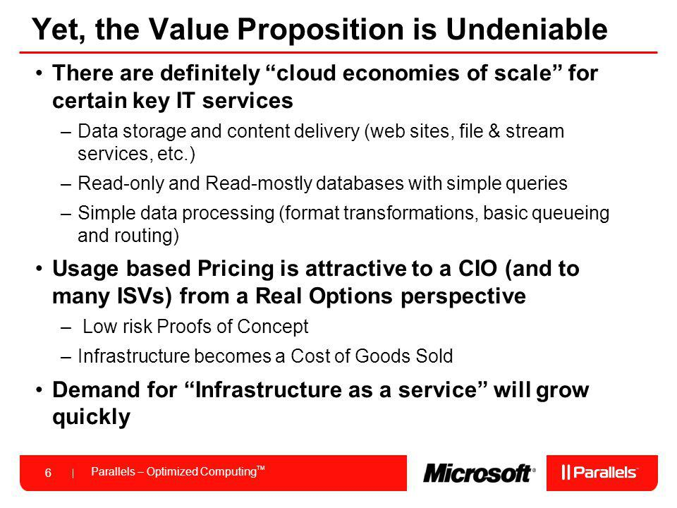 Yet, the Value Proposition is Undeniable