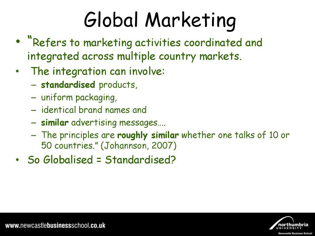standardised advertising
