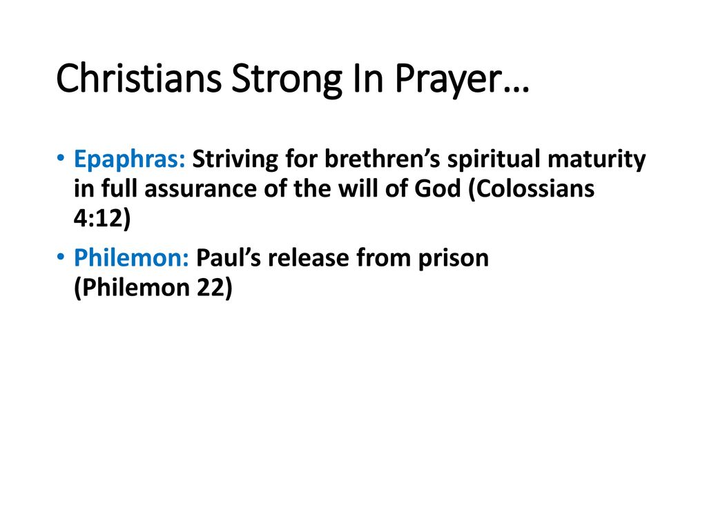 New Testament Christians: Corporate and Private Prayer - ppt