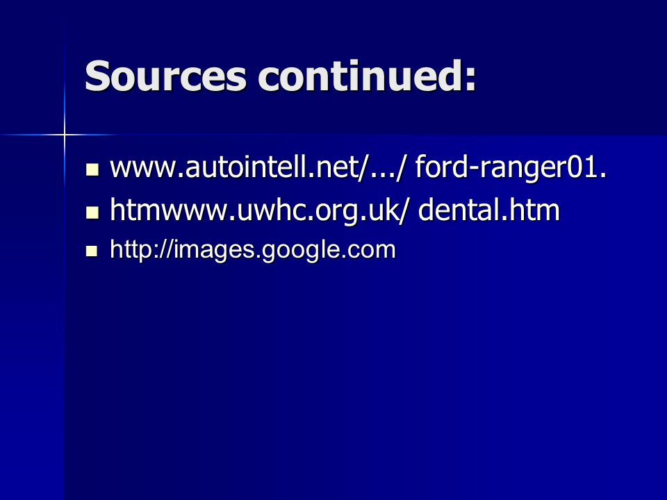 Sources continued:   ford-ranger01.