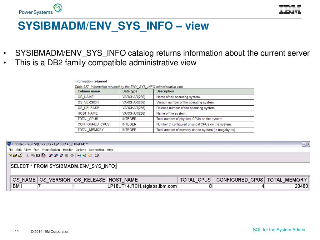 SQL for the System Administrator - ppt download