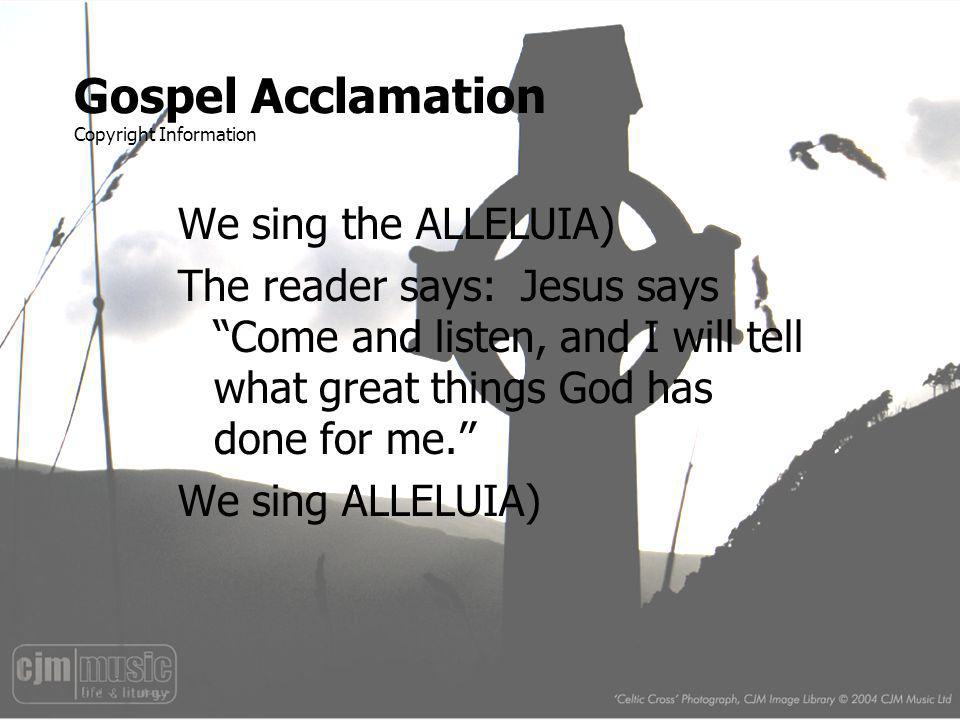 Gospel Acclamation Copyright Information