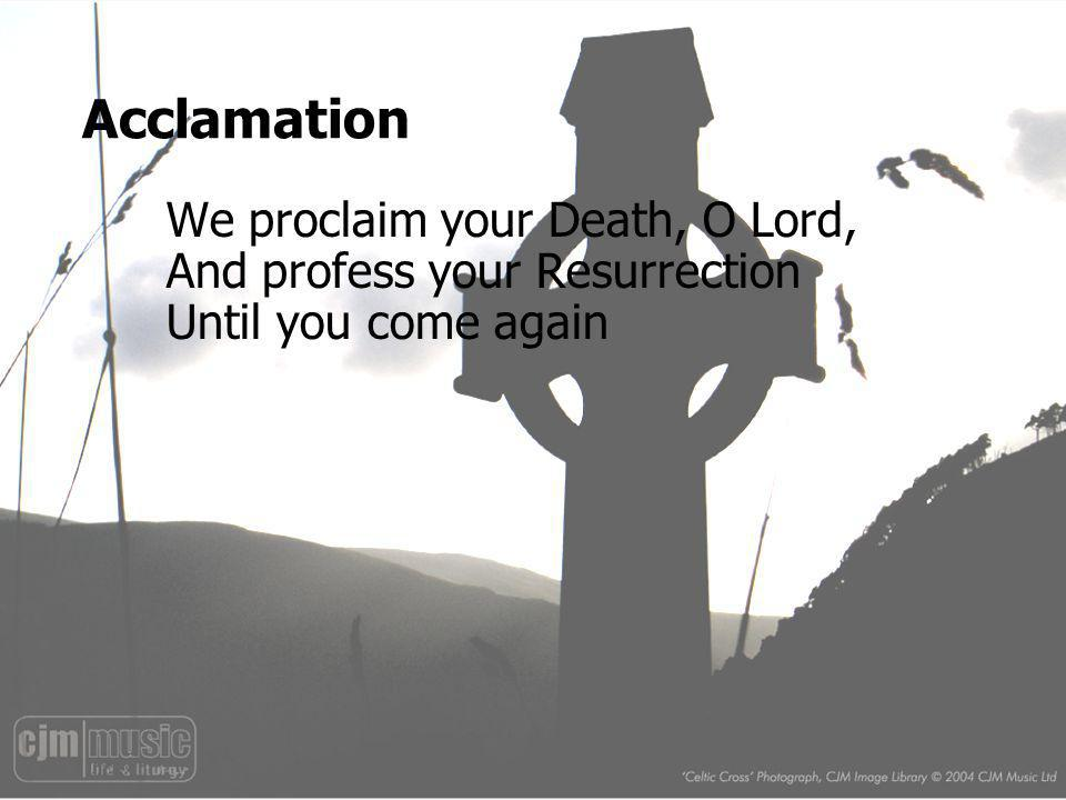Acclamation We proclaim your Death, O Lord,