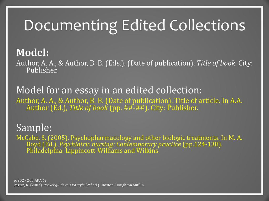 12 Documenting Edited Collections