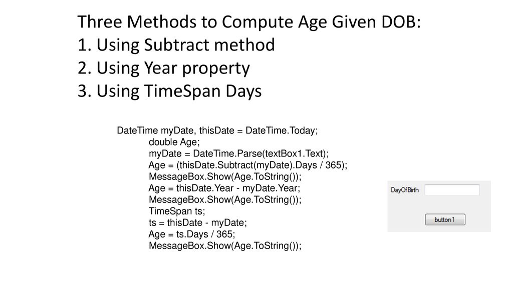 Working with DateTime Data - ppt download