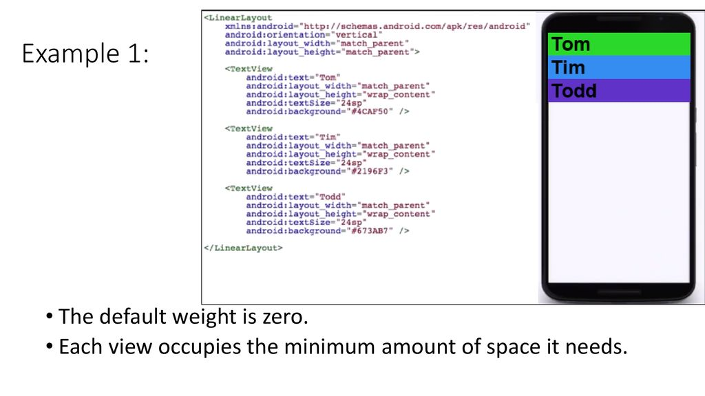 Lecture 2 b: Android Layout Basics Topics - ppt download