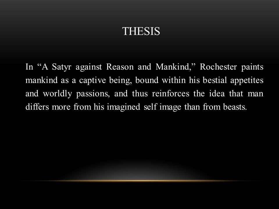 a satyr against reason and mankind sparknotes