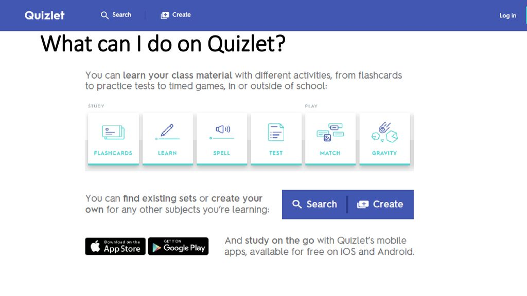 Quizlet: Study Smarter, Not Harder! - ppt download