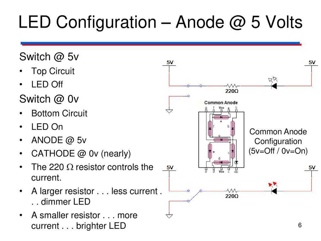 Seven Segment Displays Ppt Download Leds In Parallel Resistor Circuit 6 Led Configuration