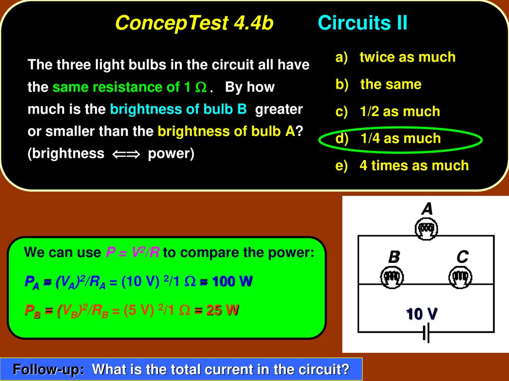 Conceptest 41a Series Resistors I Ppt Download Circuit With 3 Bulbs Then A Three Bulb 44b Circuits Ii